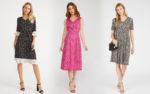 Модные платья в мелкий цветочек